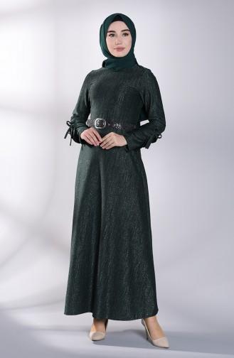 Khaki İslamitische Jurk 4081-05