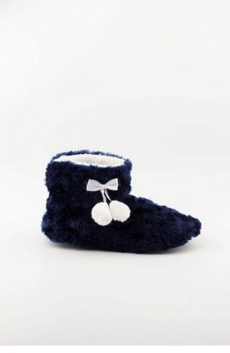 Navy Blue House Shoes 3565.MM LACIVERT