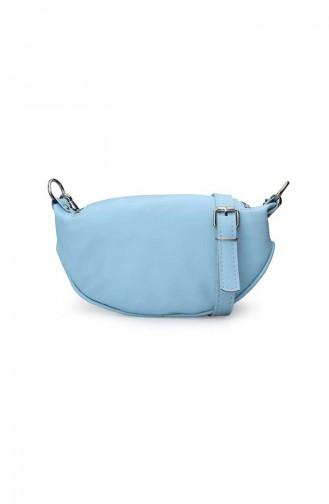 Babyblau Schultertasche 172-03