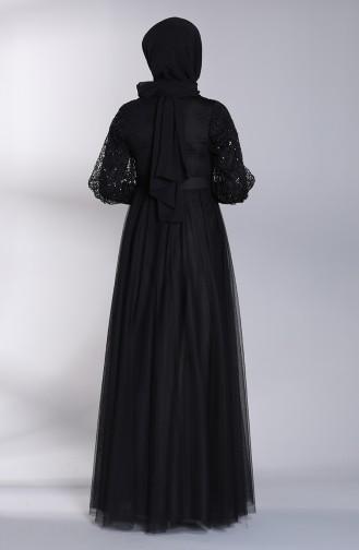 Schwarz Hijab-Abendkleider 5363-03