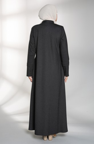 Büyük Beden Pullu Ferace 0129-03 Siyah