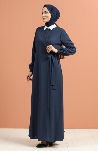 Abayas Bleu Marine 4048-01