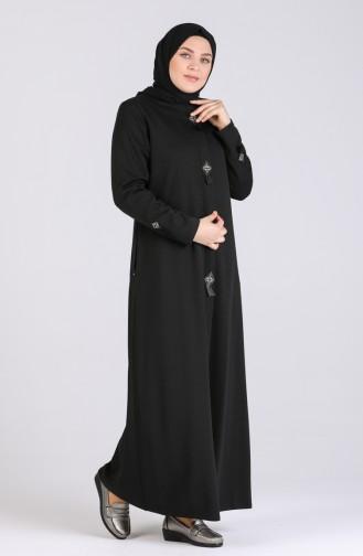 معطف فوقي أسود 4945-02