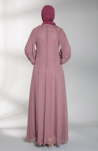 Dusty Rose İslamitische Avondjurk 52764-02