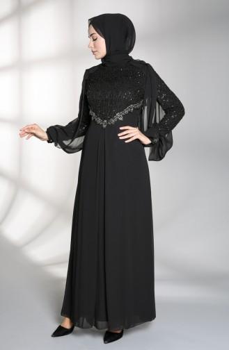 Schwarz Hijab-Abendkleider 52764-03