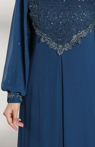 Petroleum Hijab-Abendkleider 52764-05