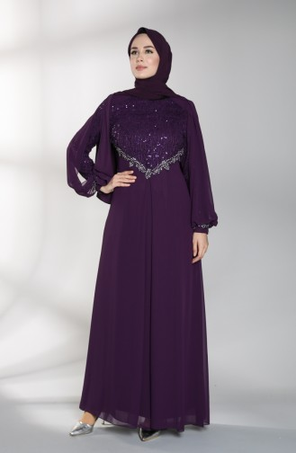 Lila Hijab-Abendkleider 52764-06