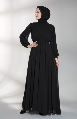 Elastic waist Evening Dress 4826-03 Black 4826-03
