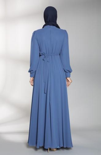 Habillé Hijab Indigo 4826-04