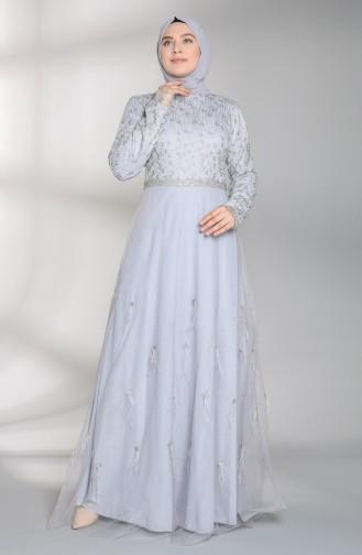Habillé Hijab Gris 8015-02