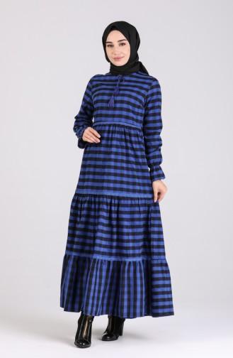 فستان أزرق كحلي 4326-04