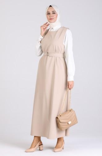 فستان رمادي فاتح 5307-09