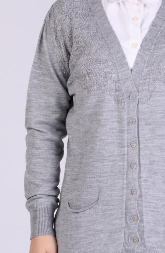 Gray Cardigan 0519-04