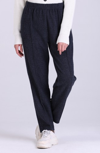 Elastic Waist Winter Pants 8114-03 Navy Blue 8114-03