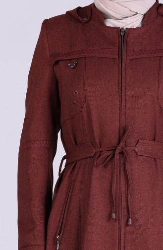 Ziegelrot Trenchcoat 1009-07