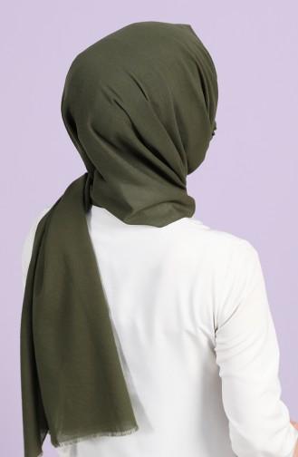 Sefamerve Maskeli Koton Şal 1001-14 Koyu Haki
