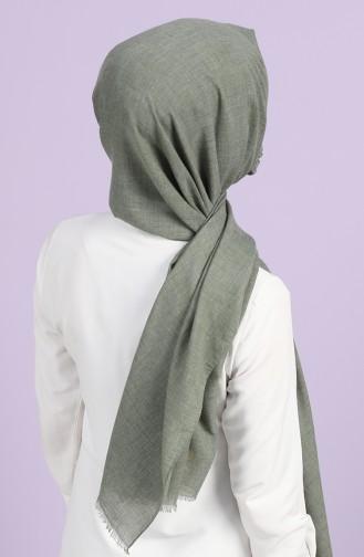 Sefamerve Maskeli Koton Şal 1001-18 Yeşil