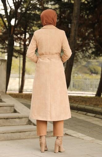 Beige Trench Coats Models 1664-04