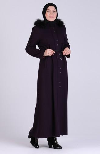 معطف طويل أرجواني 1002-08