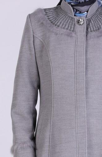 Gray Long Coat 1004-01