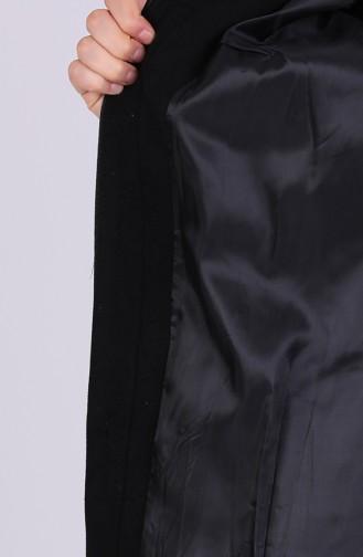 Black Lange Jas 1011-04