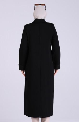 معطف فوقي أسود 4955-01