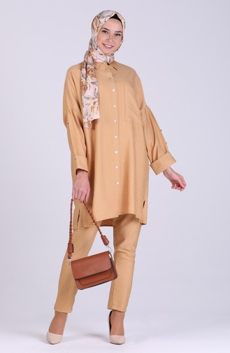 Aerobin Fabric Tunic Trousers Double Suit 1088-03 Camel 1088-03