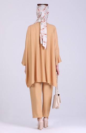 Bat Sleeve Tunic Trousers Double Suit 1095-01 Camel 1095-01
