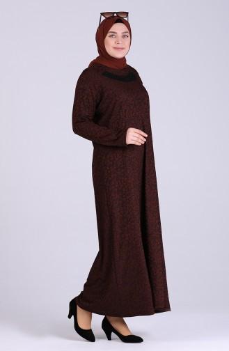 Brown İslamitische Jurk 0401-01