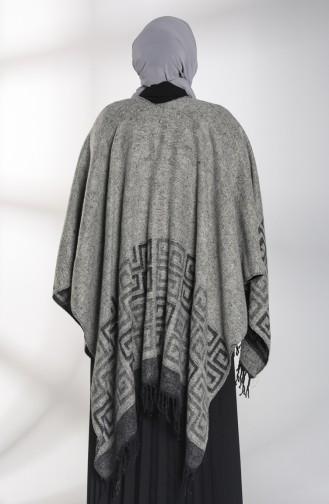 Gray Poncho 13195-02