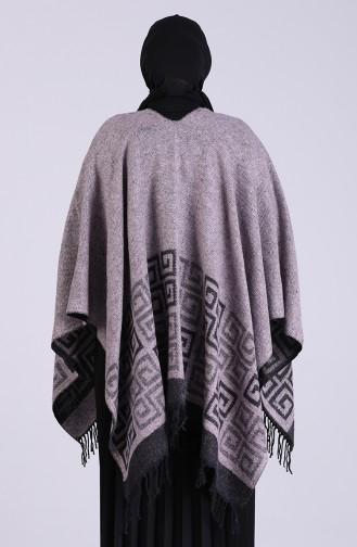 Silver Gray Poncho 13195-05