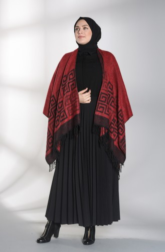 Claret red Poncho 13195-08