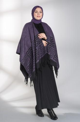Purple Poncho 13195-13