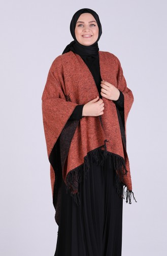 Brick Red Poncho 13197-11