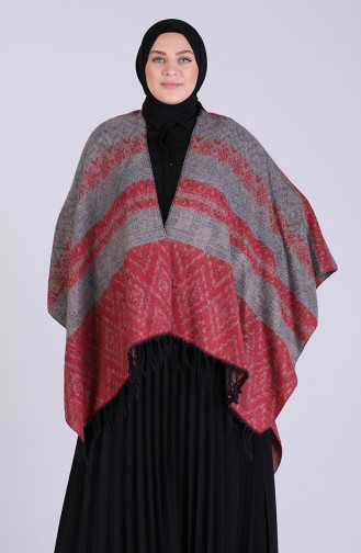 Claret Red Poncho 13200-06