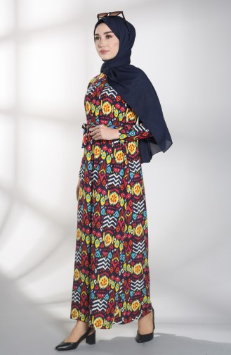 فساتين سهرة بتصميم اسلامي أزرق كحلي 1018-03