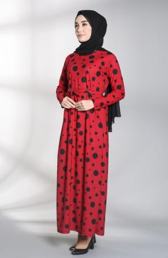 Claret red Dress 1017-03