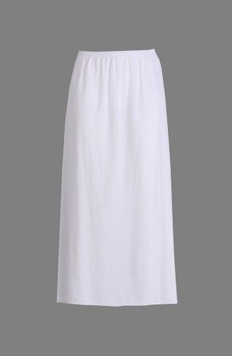 Şile Bezi Etek Astarı Uzun 3205-01 Beyaz 3205-01