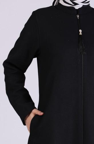 معطف طويل أسود 1066-01
