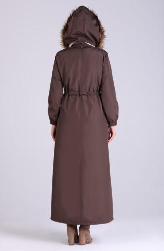Dark mink Long Coat 4054-07