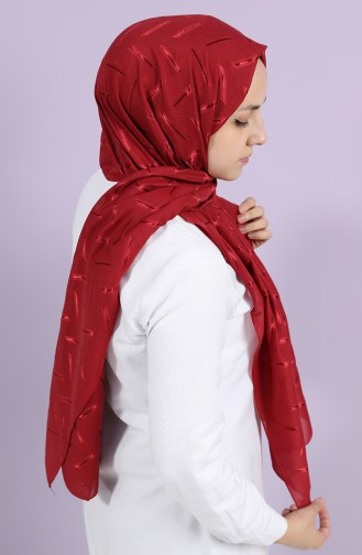 Claret red Shawl 10002-08
