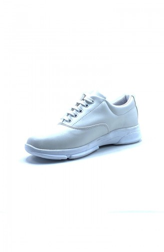 White Sport Shoes 8103-08