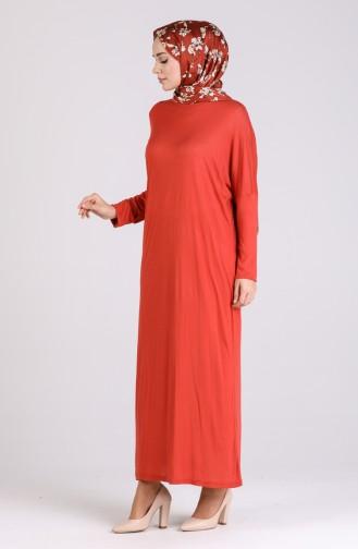 Yarasa Kol Elbise 8117-01 Kiremit