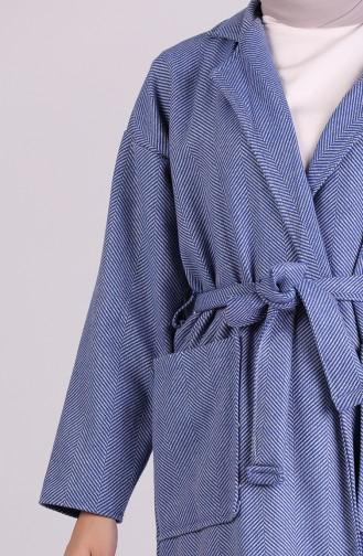 Saks-Blau Mantel 8119-04