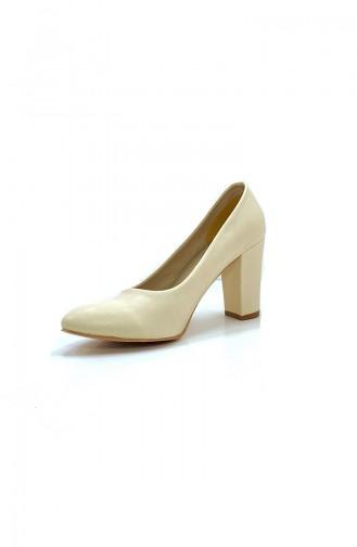 Beige Heeled Shoes 9108-03