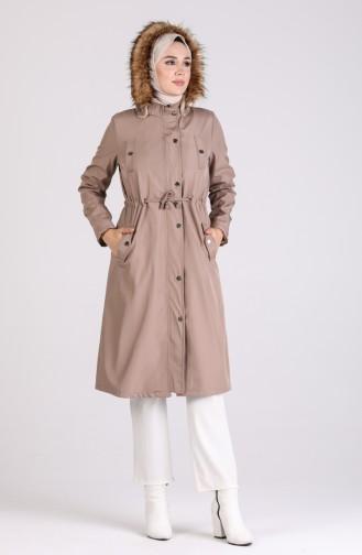 معطف بني مائل للرمادي 4055-01