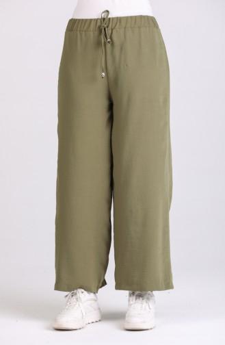 Aerobin Kumaş Bol Paça Yürüyüş Pantolonu 2000-15 Açık Haki