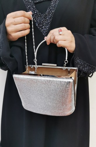 Silver Gray Portfolio Hand Bag 288106-208