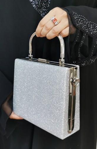 Silver Gray Portfolio Hand Bag 294107-208