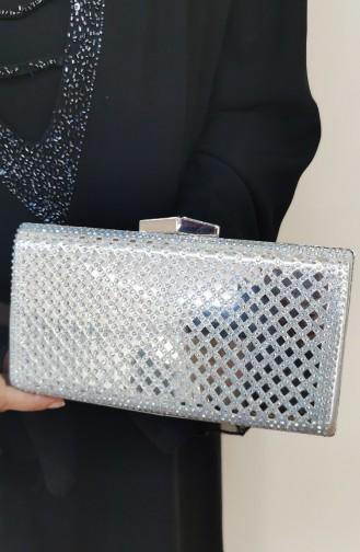 Silver Gray Portfolio Hand Bag 502125-208